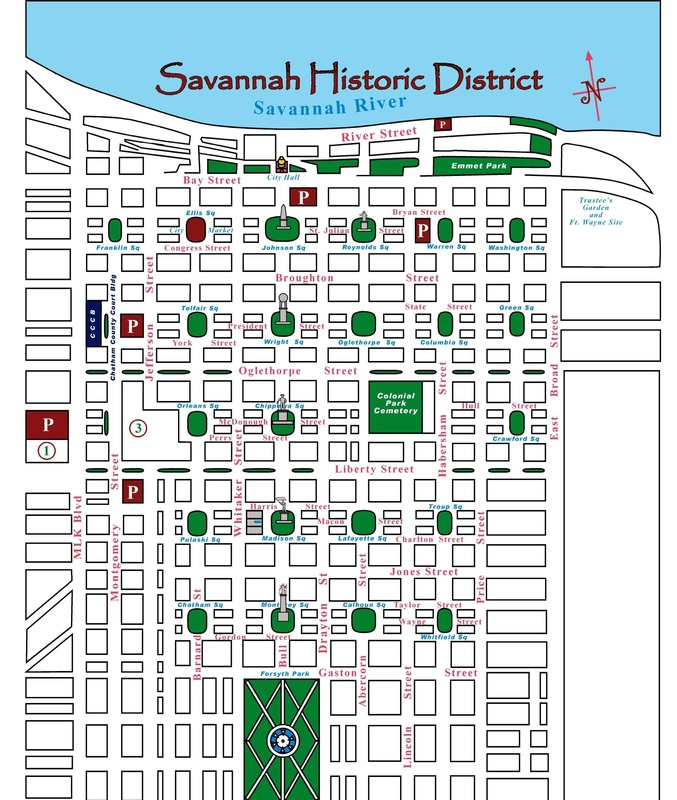 Savannah Map Inn at Mulberry Grove